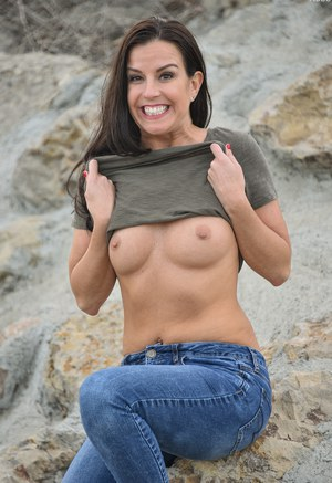 Hot milf in jeans