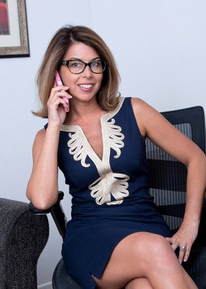 With glasses milf nude